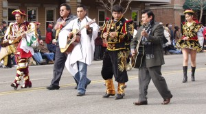 Peruvian musicians on Main Street.