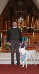 SophieBlue with Reverend Dave